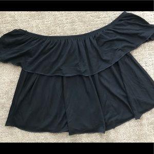 Cute black crop top